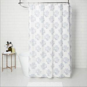 [threshold] blue floral shower curtain